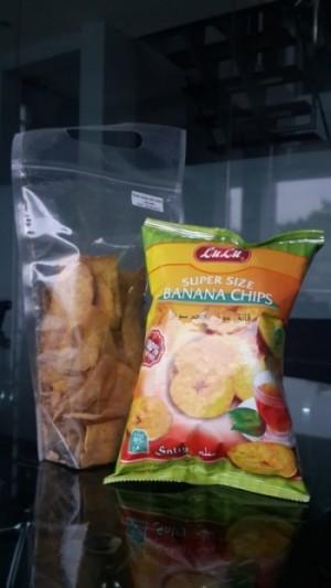 Contoh produk keripik pisang yang diekspor keluar negeri