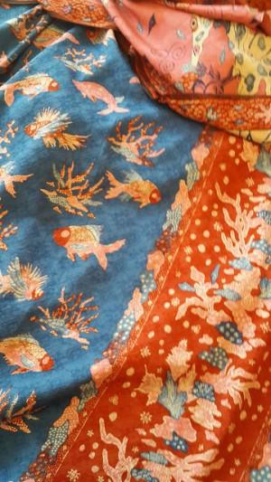 Batik Pesisiran bermotif ikan dan karang